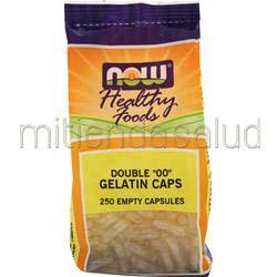 Double 00 Empty Gelatin Caps 250 caps NOW