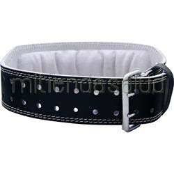 4 Inch Padded Leather Belt Black XL 38-47 waist 1 belt HARBINGER