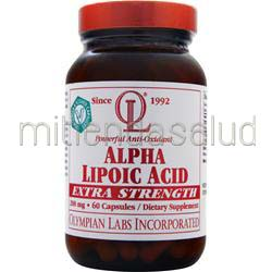 Alpha Lipoic Acid 200mg - Extra Strength 60 caps OLYMPIAN LABS