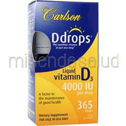 Ddrops - Liquid Vitamin D3 4000IU 10 mL CARLSON