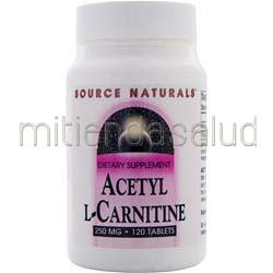 Acetyl L-Carnitine 250 mg 120 tabs SOURCE NATURALS