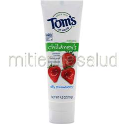 Anticavity Fluoride Toothpaste for Children Silly Strawberry 4 2 oz TOM'S OF MAINE