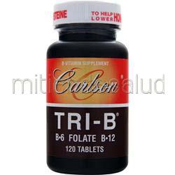 Tri-B B-6 Folate B-12 120 tabs CARLSON