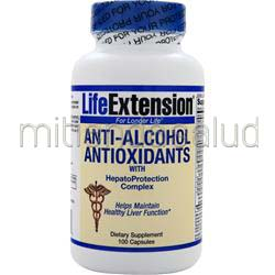 Anti-Alcohol Antioxidants with HepatoProtection Complex 100 caps LIFE EXTENSION
