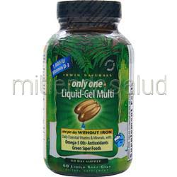 Only One Liquid-Gel Multi without Iron 60 sgels IRWIN NATURALS