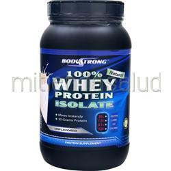 100% Whey Protein Isolate - Natural Unflavored 2 lbs BODYSTRONG