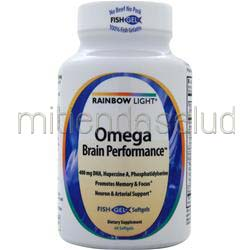 Omega Brain Performance 60 sgels RAINBOW LIGHT