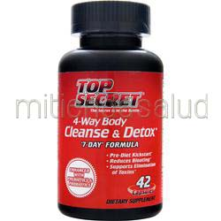 4-Way Body Cleanse & Detox 42 caps TOP SECRET NUTRITION
