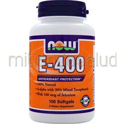 E-400 d-alpha w/ 20% mixed tocopherols 100 sgels NOW