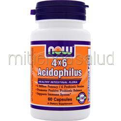4 x 6 Acidophilus 60 caps NOW