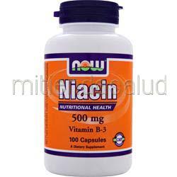 Niacin 500mg 100 caps NOW