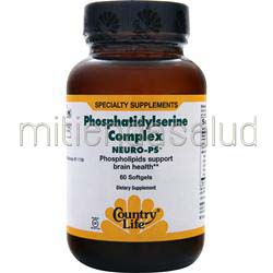 Neuro-PS Phosphatidylserine Complex 60 sgels COUNTRY LIFE