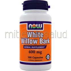 White Willow Bark 400mg 100 caps NOW