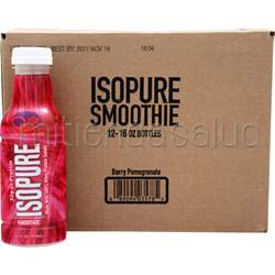 Isopure Smoothie RTD Berry Pomegranate 12 bttls NATURE'S BEST