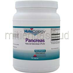 Pancreas - Natural Glandular Pork 720 caps NUTRICOLOGY