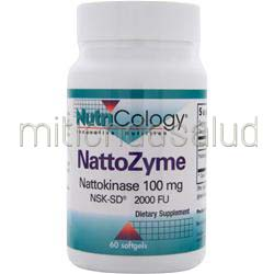 NattoZyme 100mg 60 sgels NUTRICOLOGY