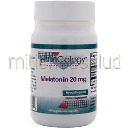 Melatonin 20mg 60 caps NUTRICOLOGY