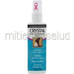 All Natural Foot Deodorant Spray 4 fl oz CRYSTAL