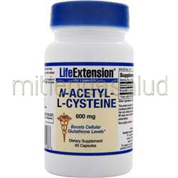 N-Acetyl-L-Cysteine 600mg 60 caps LIFE EXTENSION