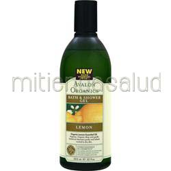 Bath & Shower Gel Lemon 12 fl oz AVALON ORGANICS