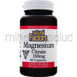 Magnesium Citrate 150mg 90 caps NATURAL FACTORS