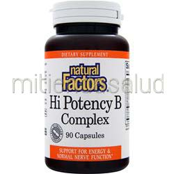 Hi Potency B Complex 90 caps NATURAL FACTORS