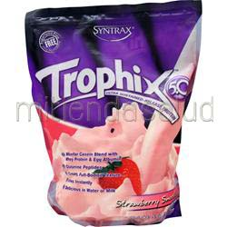 Trophix 5 0 - Ultra Sustained Release Protein Strawberry Smoothie 5 lbs SYNTRAX