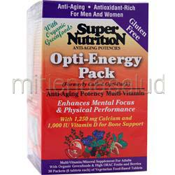Opti-Energy Pack 30 pckts SUPER NUTRITION