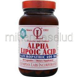 Alpha Lipoic Acid 400mg 60 caps OLYMPIAN LABS