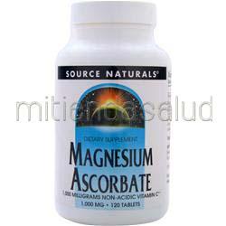 Magnesium Ascorbate 120 tabs SOURCE NATURALS