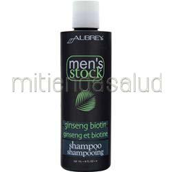 Men's Stock Ginseng Biotin Shampoo 8 fl oz AUBREY