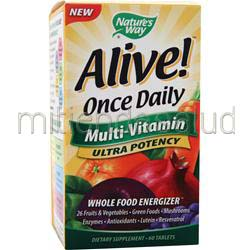 Alive Once Daily Multi-Vitamin Ultra Potency 60 tabs NATURE'S WAY