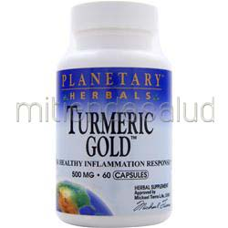 Turmeric Gold 500mg 60 caps PLANETARY FORMULAS