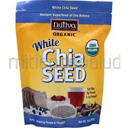 White Chia Seed - Organic 14 oz NUTIVA