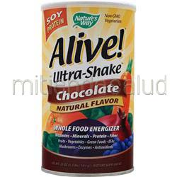 Alive Ultra Shake Soy Protein Chocolate 1 3 lbs NATURE'S WAY