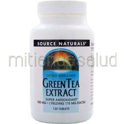 Green Tea Extract 500mg 120 tabs SOURCE NATURALS
