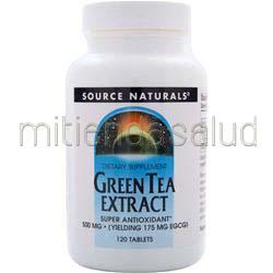 Green Tea Extract 500mg 120 tabs SOURCE NATURALS