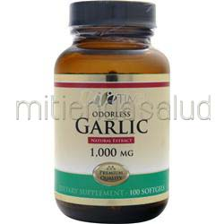 Odorless Garlic 1000mg 100 sgels LIFETIME