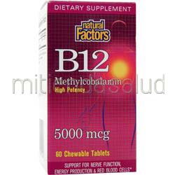 B12 Methylcobalamin 5000mcg 60 tabs NATURAL FACTORS
