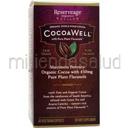 CocoaWell Maximum Potency Organic Cocoa 60 caps RESERVEAGE ORGANICS