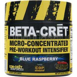 Beta-Cret Micro-Concentrated Pre-Workout Intensifier Blue Raspberry 5 52 oz CON-CRET