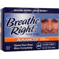 Breathe Right Nasal Strips Advanced Adult noses 44 strip BREATHE RIGHT