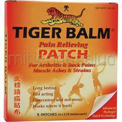 Tiger Balm Pain Relieving Patch 5 pads PRINCE OF PEACE