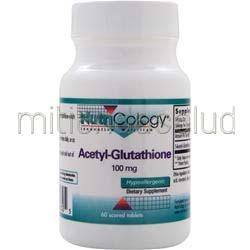 Acetyl-Glutathione 100mg 60 tabs NUTRICOLOGY