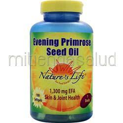 Evening Primrose Seed Oil 100 sgels NATURE'S LIFE