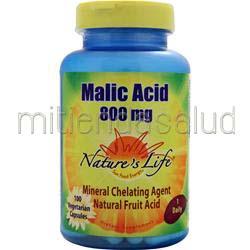 Malic Acid 800mg 100 caps NATURE'S LIFE