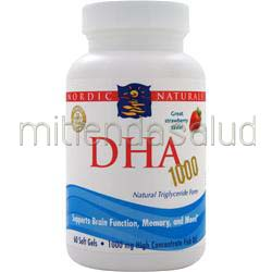 DHA 1000 Strawberry 60 sgels NORDIC NATURALS