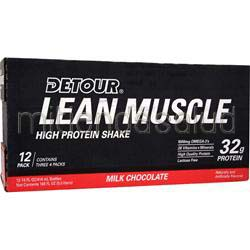 Detour Lean Muscle High Protein Shake RTD Milk Chocolate 12 bttls FORWARD FOODS