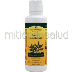 Neem Mouthwash Herbal Mint Therape 16 fl oz THERANEEM ORGANIX