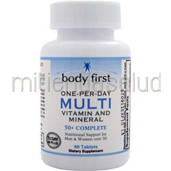 One-Per-Day Multi - Vitamin and Mineral 50con Complete 60 tabs BODY FIRST